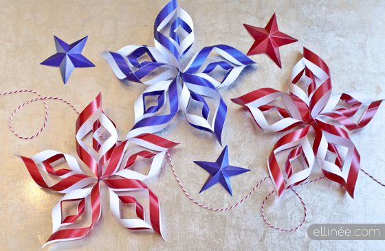 July 4th Paper Stars