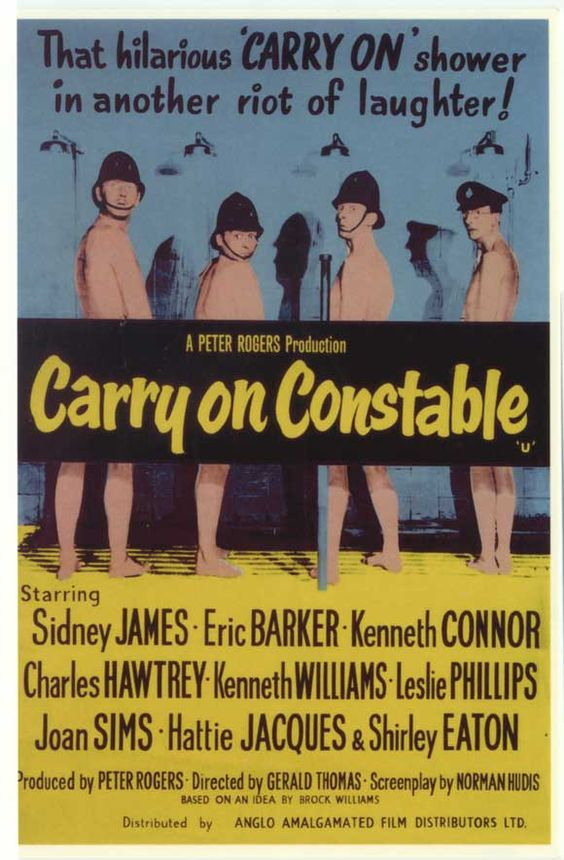 Carry On Constable (1960) GB Sidney James, Kenneth Connor, Charles Hawtrey, Kenneth Williams, Eric Barker, Leslie Phillips, Joan Sims, Hattie Jacques, Shirley Eaton. 5/2/05