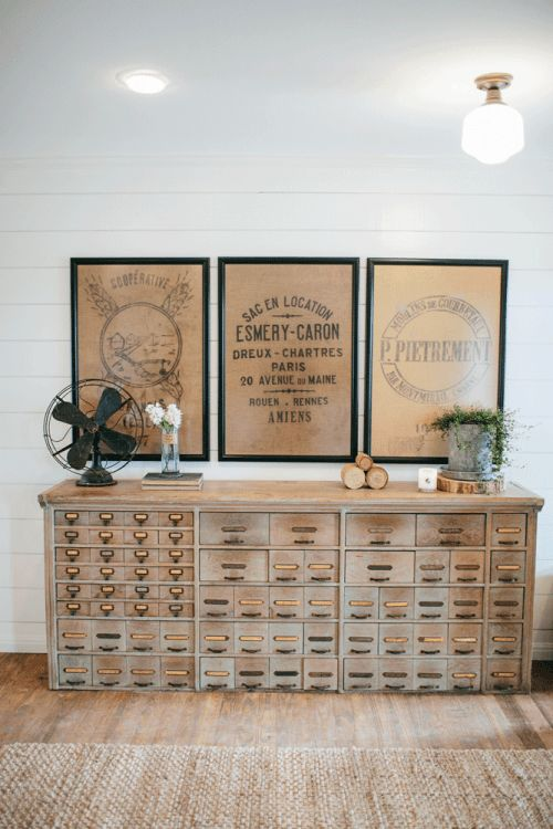Decorating with neutrals, amazing vintage cabinet