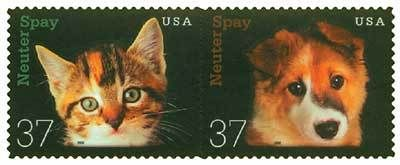 2002 Neuter and Spay stamps