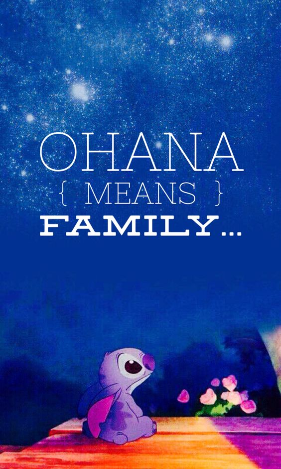 stitch ohana quote wallpaper - photo #3
