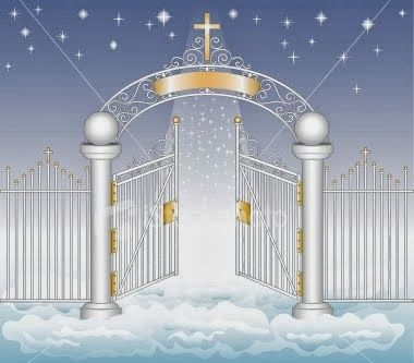 Pearly Gates of Heaven | Jesus and a Carpenter at the ... Pearly Gates Of Heaven Clipart
