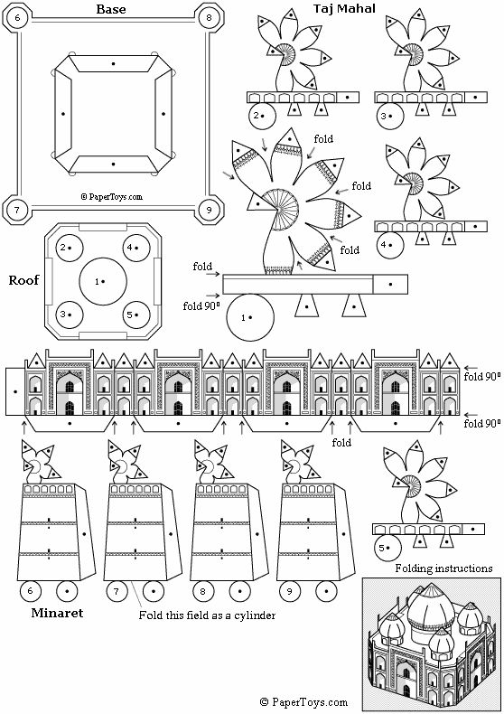 Des mosqu es 3d papercraft paper models and paper toys for Arquitectura naval pdf