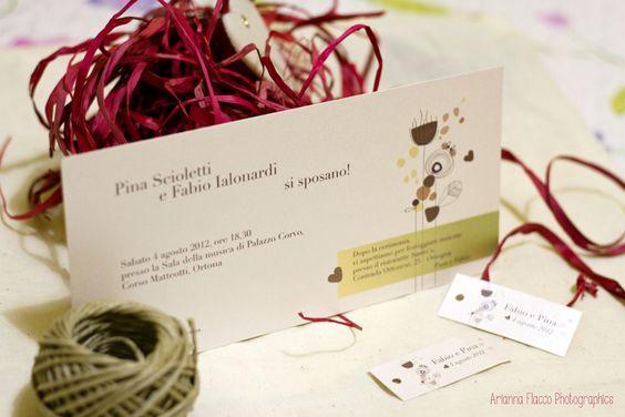 Pina and Fabio project. #wedding #invitation www.ariannaflacco.it