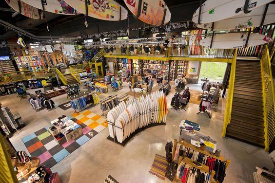 Quicksilver flagship store, Saint Jean de Luz France store design