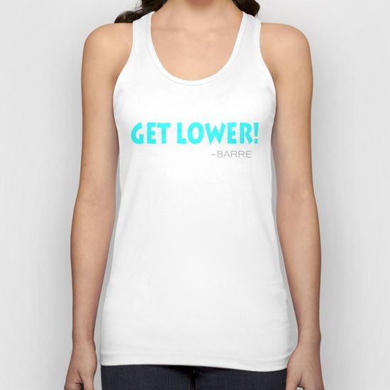 Perfect tank for barre class. Get Lower! - Barre
