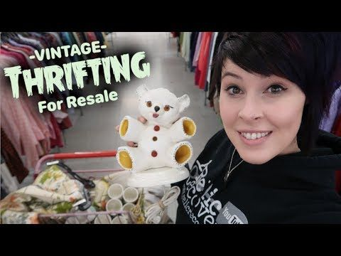 Vintage Thrifting For Resale To Buy Or Not To Buy Crazy Lamp Lady Youtube Thrifting Things To Sell Vintage