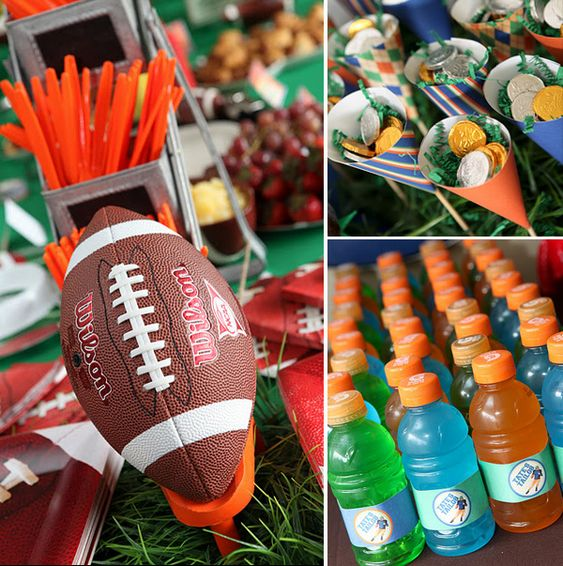 Amazing Tailgating Football Party: Tailgate Birthday Party Ideas, Boys Football Party Ideas, Football Birthday Games, Boys Bday Party Ideas, Boys Football Birthday Party, Boys Sports Birthday Party, Football Theme, Football Birthday Party Ideas, Birthday Ideas