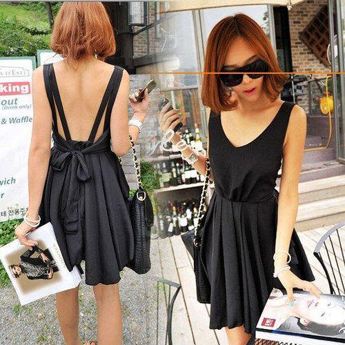 Black Bow Dress - $57