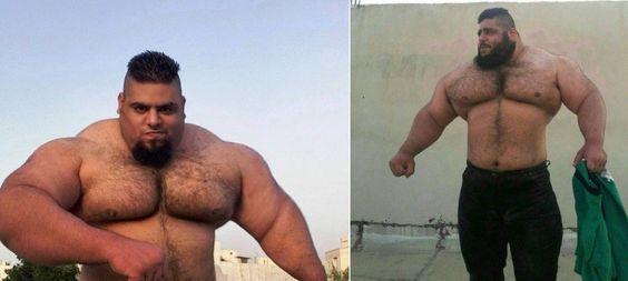 Iraniano pesa 156 quilos e é comparado ao incrível Hulk