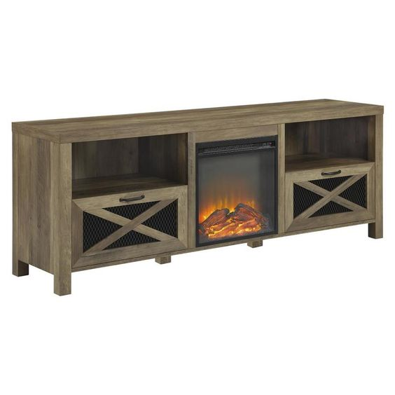 70 Bryan Fireplace Tv Stand Black Room Joy In 2019 Peter S