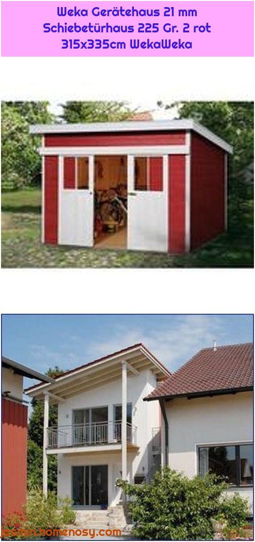 Weka Geratehaus 21 Mm Schiebeturhaus 225 Gr 2 Rot 315x335cm Wekaweka Pultdach Haus Design Gartenhaus