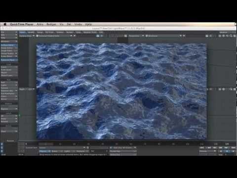 Lightwave tutorials - Ocean waves with desplacements map