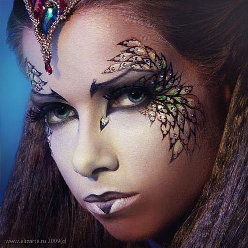 Mob Corbeau, Yeux, Corps De Fantaisie, Fantaisie Maquillage, Disney Fantasy, Facepainting Adultes, Maquillages, Moors Maquillage, Maquillage Artistique. \u0026quot;