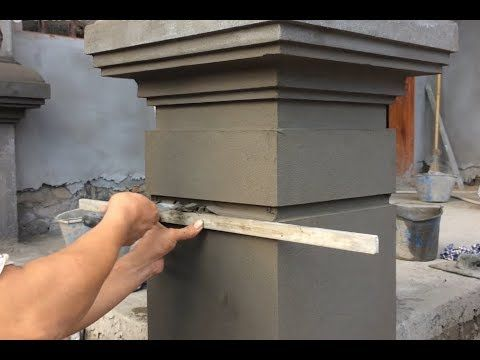 Awesome Sand And Cement How To Build Creative For Column Correctly Youtube Exterior Wall Design Compound Wall Design House Arch Design