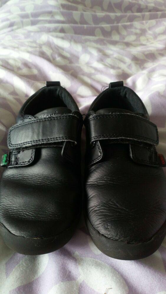 Kickers Velcro slip on school Shoes