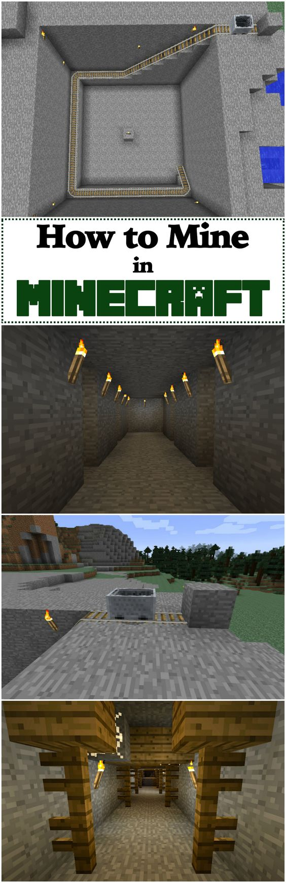 How to Mine in Minecraft   Learn about the different kinds of mines you can use and how to make all the tools you need to be an experienced miner in Minecraft.