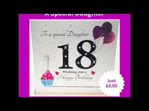 18th Birthday Card For A Special Daughter A Fab New 18th Card For A Daughter Design By Rush Design Features 18th Birthday Cards 18th Birthday Birthday Cards