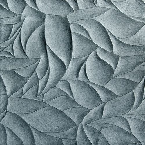 Artistic Tile | Ziva Lake Blue Limestone Leaves Honed and Polished Dimensional Field Tile
