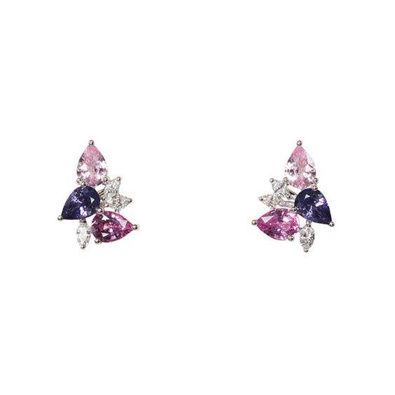 Fancy Sapphire Earrings