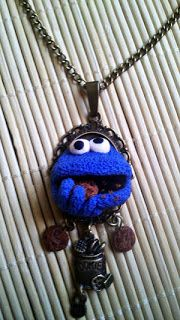 Cookie monster z polymer clay fimo