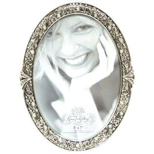 get 5 x 7 silver oval beaded metal frame online or find other picture frames products from green tree gallery