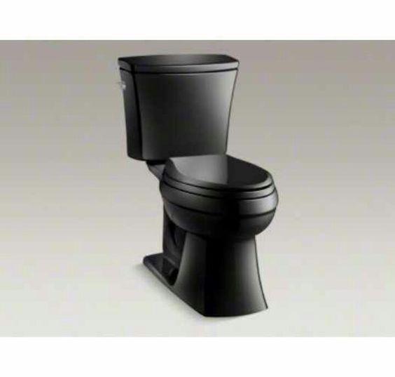 Black comfort height toilet by Kohler $400
