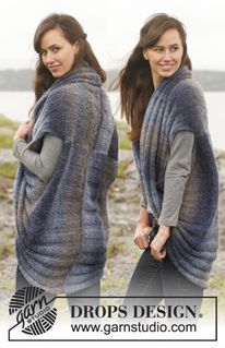 """FREE Knitted DROPS jacket in """"Verdi"""". Size: S - XXXL. ~ DROPS Design: Knit Crochet, Free Pattern, Drops Design, Knitted Drops, Knitting Pattern, Drops Jacket, Knit Jackets, Blue Nile"""