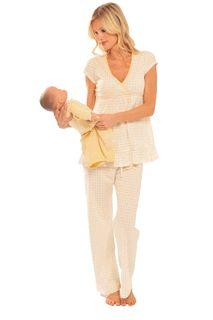 Olian Lemon Drop Maternity Nursing Pajamas... I want