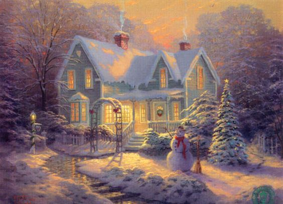 Thomas Kincade- Blessings of Christmas