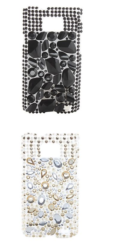 Diamonds are a girl's best friend! You SHOULD have this chic crystal phone case. Do you like black or white?
