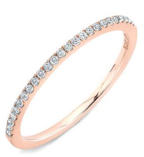 straight diamond band ring