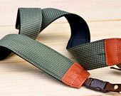 Dark Green Rainy Camera Strap suits for DSLR / SLR with Quick Release Buckles