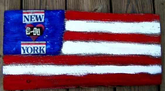 American Flag Art Piece...in memory of September, 11 2001