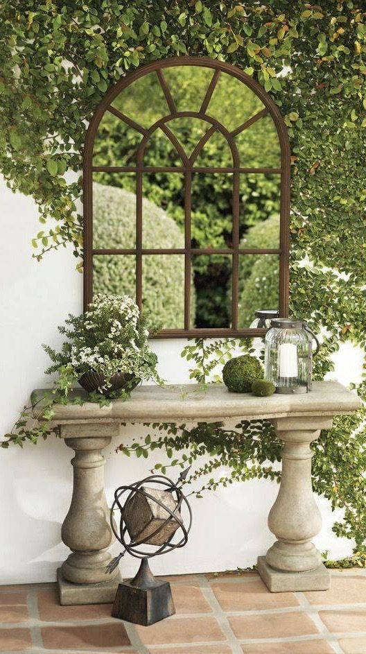 Outdoor Mirrors   Great Ideas For Using Mirrors In The Garden   Via Good  Life Of Design | Yard | Pinterest | Gardens, Garden Ideas And Small Gardens.