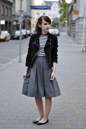 Barbour pullover // Zara skirt // Zara ankle boots // Pauw jacket ...