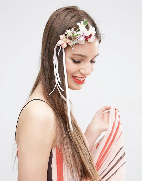 ASOS Floral Pearl Hair Corsage Clip