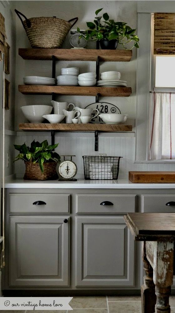 Where Are Floating Shelves In Walmart Rustic Kitchen Kitchen Cabinets Pictures Farmhouse Kitchen Decor