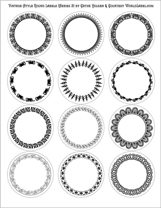 Vintage Round Labels Series  By Catheholden Of