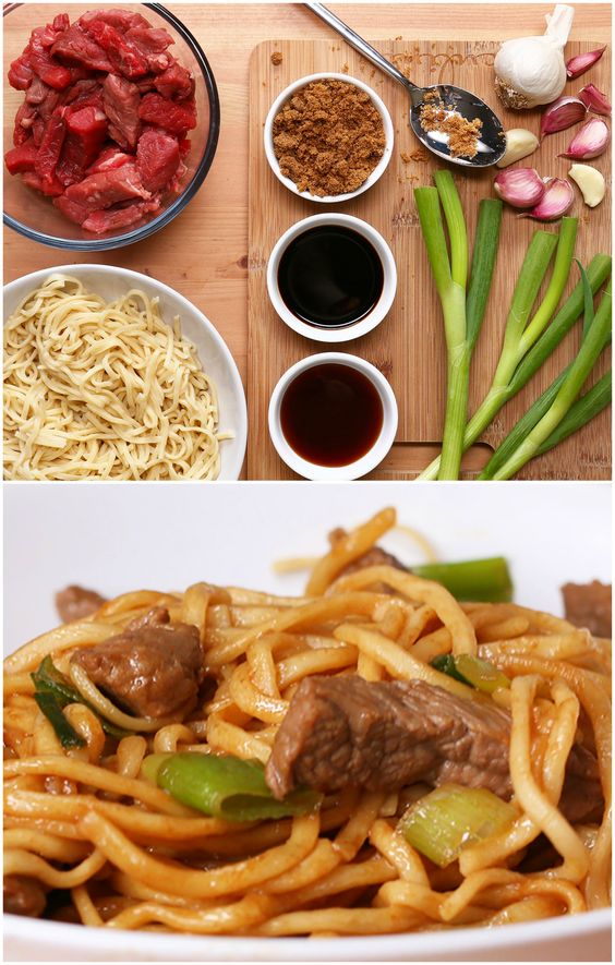 Easy Beef And Garlic Noodles                              …