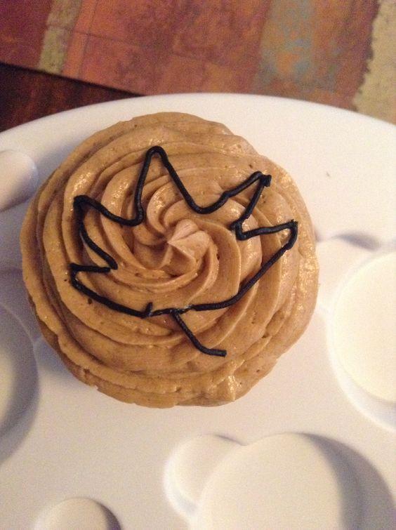 My Maple leaf cupcake!