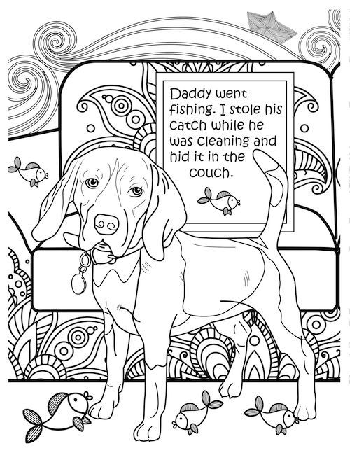 10 Funny Free Coloring Pages For Dog Lovers Dog Lovers Dog Coloring Page Dog Adoption