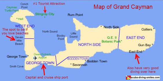 Grand Cayman is a beautiful island. The beaches and diving are great. If you need a Grand Cayman map to help plan your trip, we have some for you. Check out all our island maps here...
