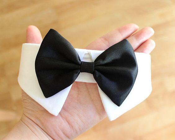 More Colors Available- Dog bow tie collar, dog tuxedo collar, dog bowtie, dog…