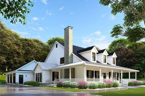 Beds 3 Baths 2180 Sq Ft Plan 17 2503, Modern Farmhouse Plans With Wrap Around Porches