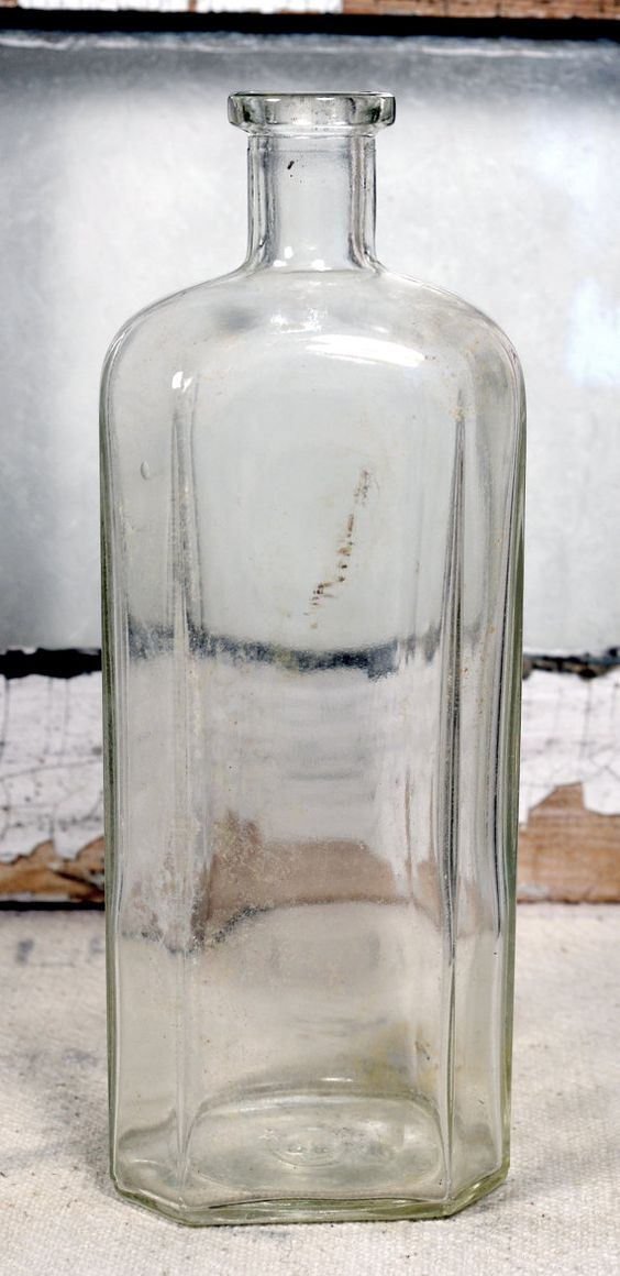 5.00 Vintage Bottles * Glass * Containers * Jars * Old Bottles
