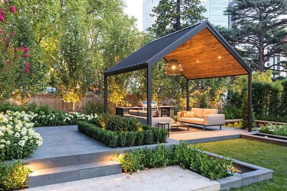 240 Modern Patio Backyard Design Ideas That Are Trendy On Pinterest In 2020 Outdoor Patio Designs Modern Gazebo Modern Patio Design