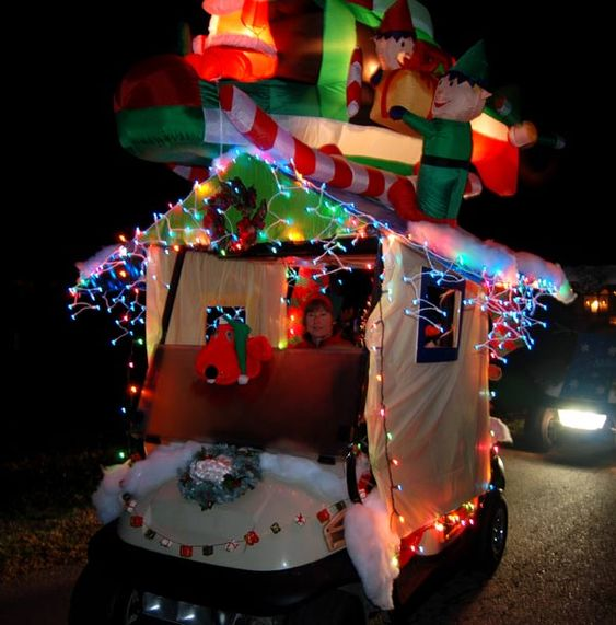 Decorated Christmas Golf Cart Google Search