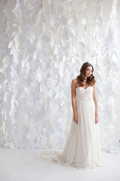 Backdrop aus Papierfedern – Paper feather backdrop