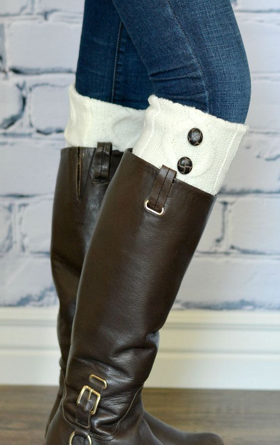 Fall is right around the corner and that means time to get out those boots! What better way to top them off than with our knit button boot cuff! Add a pop of color and style to your look without all the bulk down your boot.